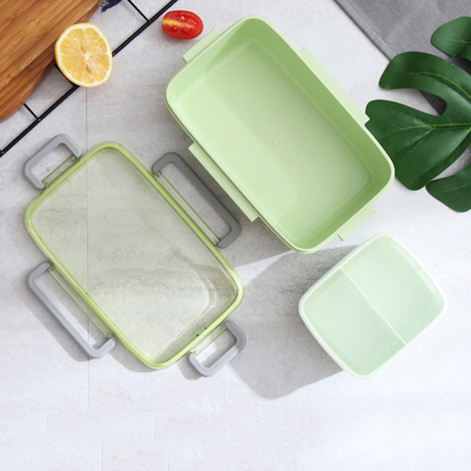 2X-Portable-Lunch-Box-Independent-Grid-Rectangular-Lunch-Box-Leakproof-Food7J8 thumbnail 14