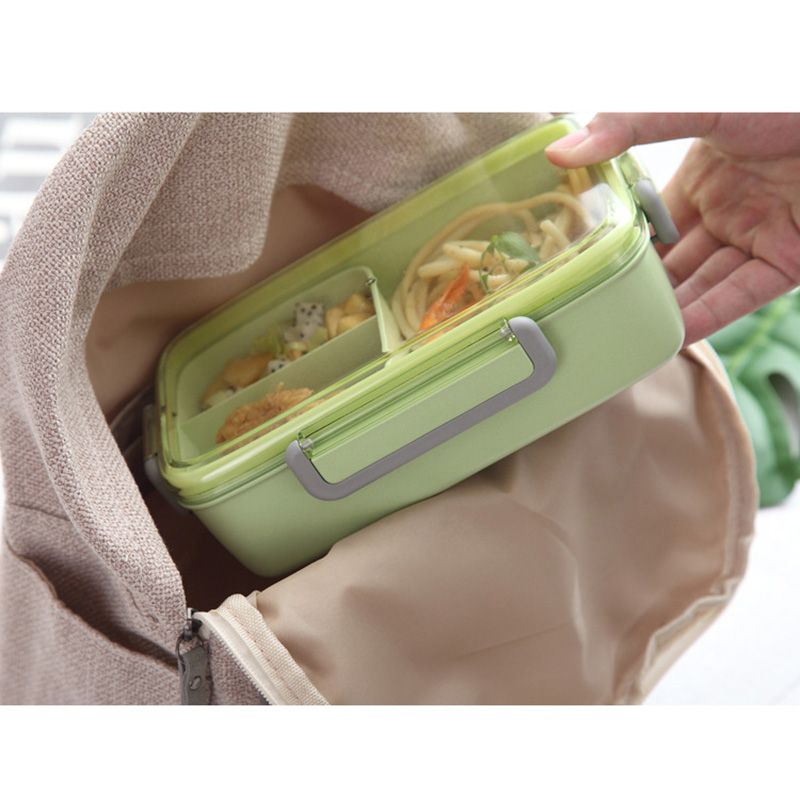 2X-Portable-Lunch-Box-Independent-Grid-Rectangular-Lunch-Box-Leakproof-Food7J8 thumbnail 17