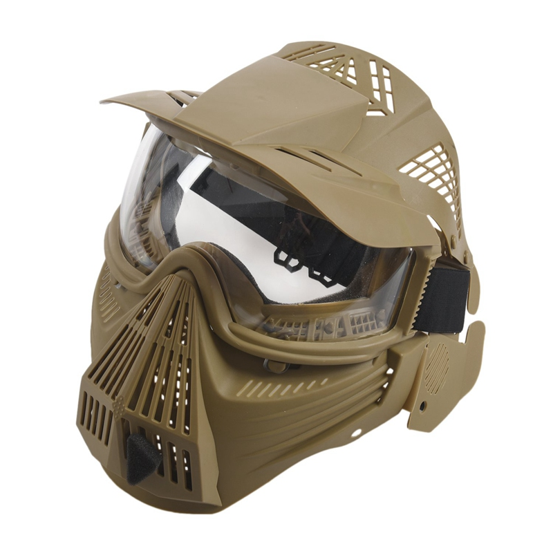 Tactical-Outdoor-Lens-Mask-Full-Face-Breathable-Cs-Hunting-Military-Army-Ai-W6M4 thumbnail 3