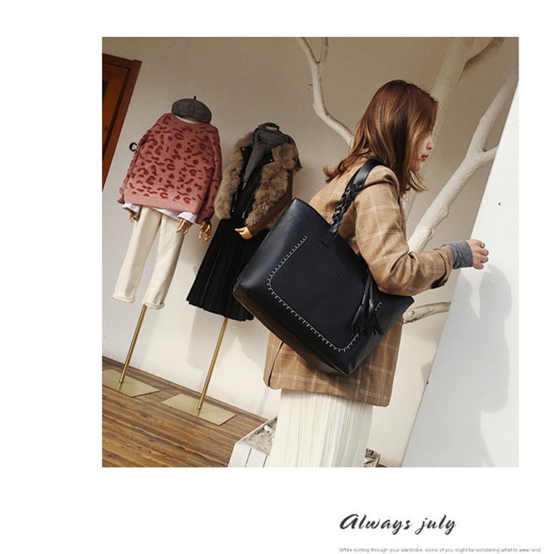 3X-Neue-Frauen-Grosse-Kapazitaets-Speicher-Leder-Hand-Taschen-Schulter-Damen-O5F5 Indexbild 6