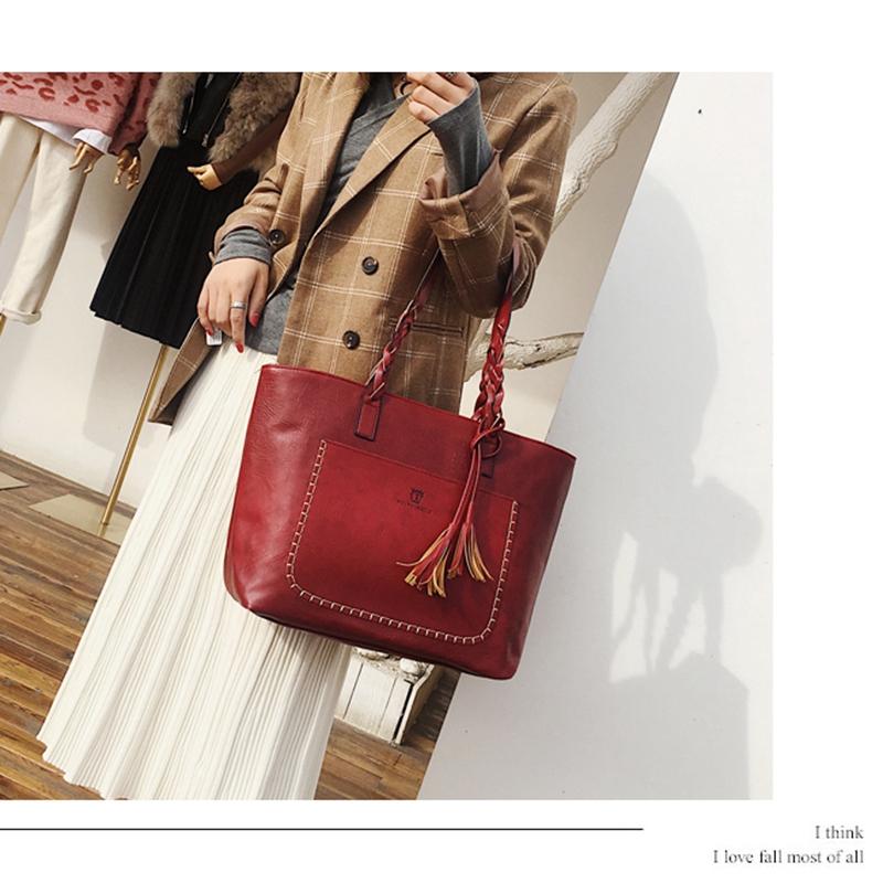 3X-Neue-Frauen-Grosse-Kapazitaets-Speicher-Leder-Hand-Taschen-Schulter-Damen-O5F5 Indexbild 9