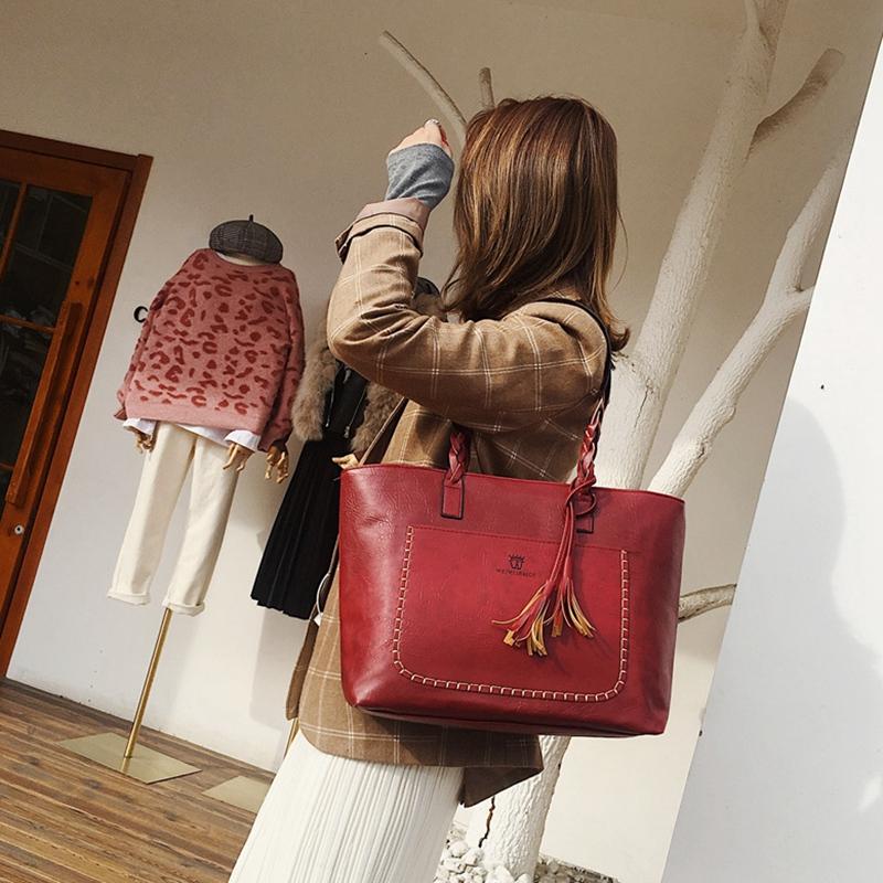 3X-Neue-Frauen-Grosse-Kapazitaets-Speicher-Leder-Hand-Taschen-Schulter-Damen-O5F5 Indexbild 10