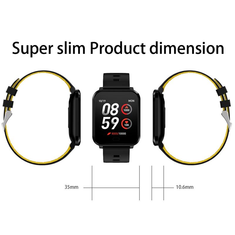 K10-Intelligente-Uhr-Bluetooth-Sport-Armband-Pulsmesser-Aussen-Schritt-Zaehle-J3L4 Indexbild 3