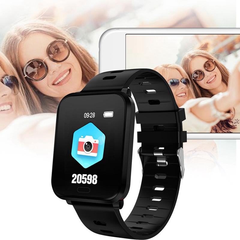 K10-Intelligente-Uhr-Bluetooth-Sport-Armband-Pulsmesser-Aussen-Schritt-Zaehle-J3L4 Indexbild 4
