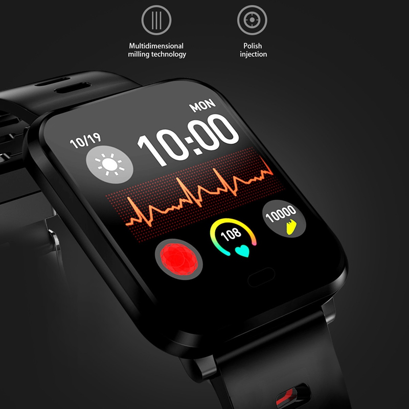 K10-Intelligente-Uhr-Bluetooth-Sport-Armband-Pulsmesser-Aussen-Schritt-Zaehle-J3L4 Indexbild 5