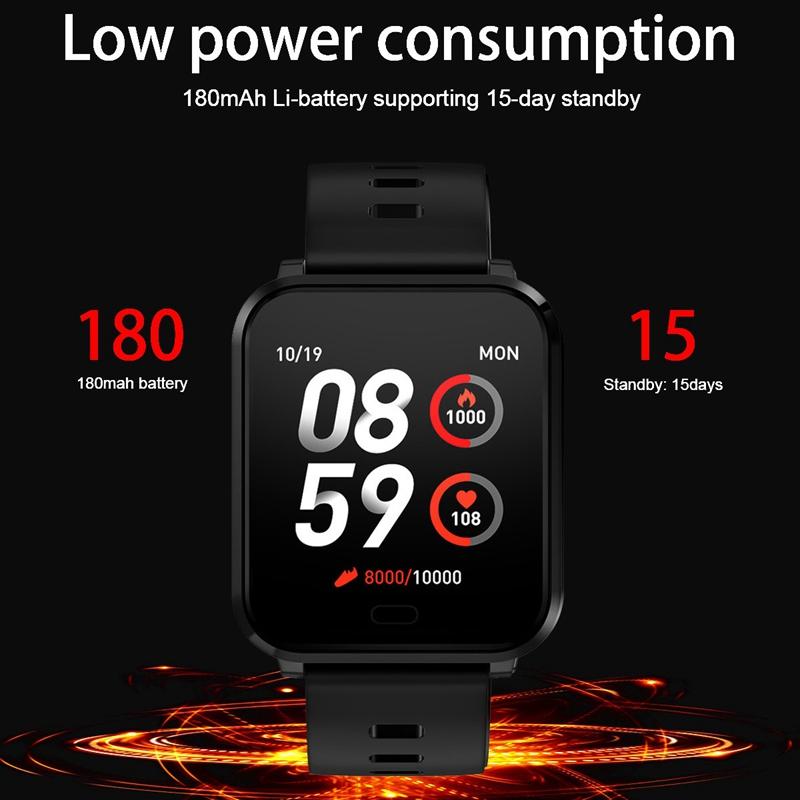 K10-Intelligente-Uhr-Bluetooth-Sport-Armband-Pulsmesser-Aussen-Schritt-Zaehle-J3L4 Indexbild 6
