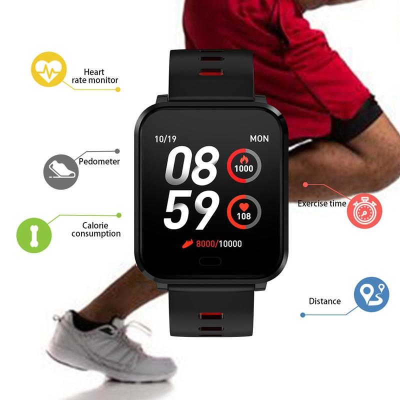 K10-Intelligente-Uhr-Bluetooth-Sport-Armband-Pulsmesser-Aussen-Schritt-Zaehle-J3L4 Indexbild 7