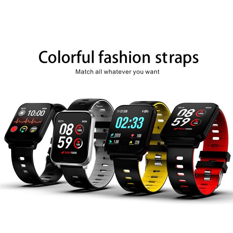 K10-Intelligente-Uhr-Bluetooth-Sport-Armband-Pulsmesser-Aussen-Schritt-Zaehle-J3L4 Indexbild 9