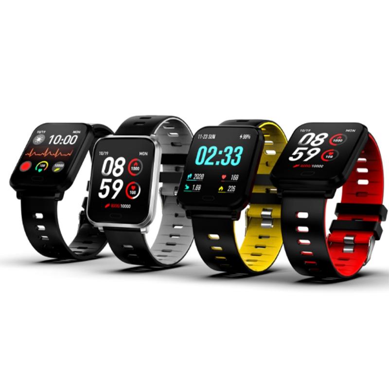 K10-Intelligente-Uhr-Bluetooth-Sport-Armband-Pulsmesser-Aussen-Schritt-Zaehle-J3L4 Indexbild 10