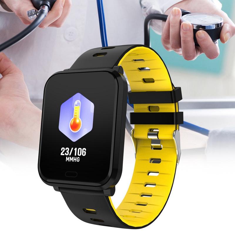 K10-Intelligente-Uhr-Bluetooth-Sport-Armband-Pulsmesser-Aussen-Schritt-Zaehle-J3L4 Indexbild 12