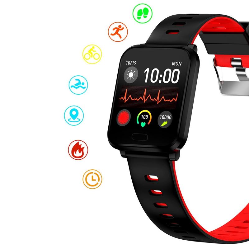 K10-Intelligente-Uhr-Bluetooth-Sport-Armband-Pulsmesser-Aussen-Schritt-Zaehle-J3L4 Indexbild 29