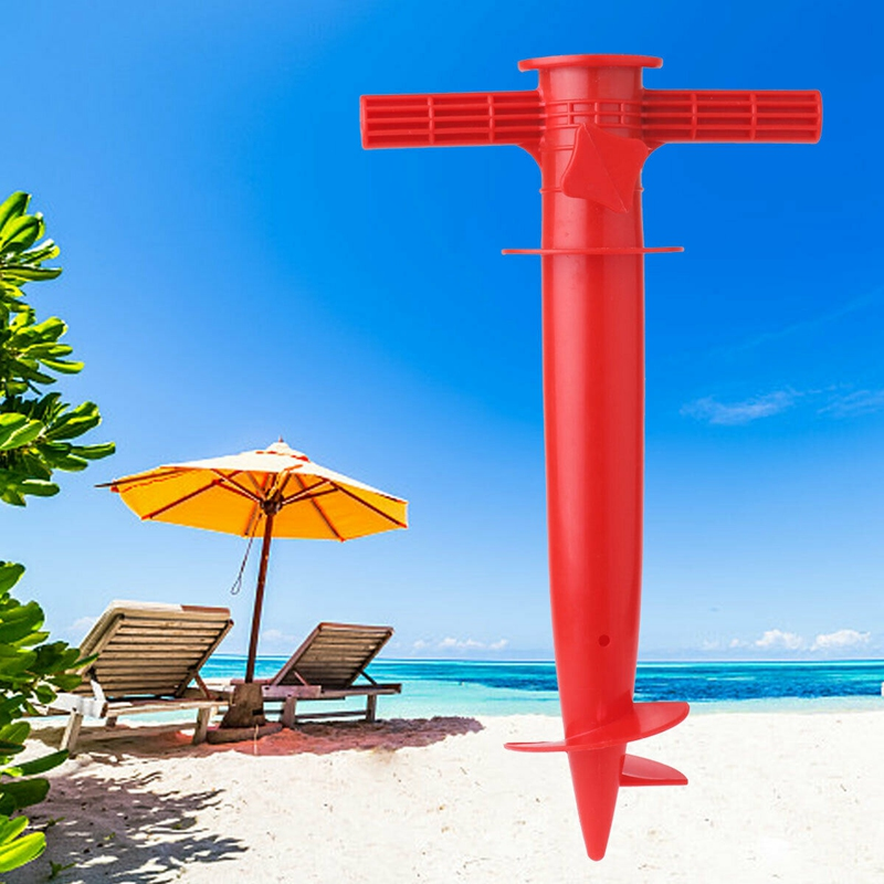 Sol-Al-Aire-Libre-Paraguas-De-Playa-Espiga-Cana-De-Pescar-Patio-Sombrilla-A-M4K4 miniatura 16
