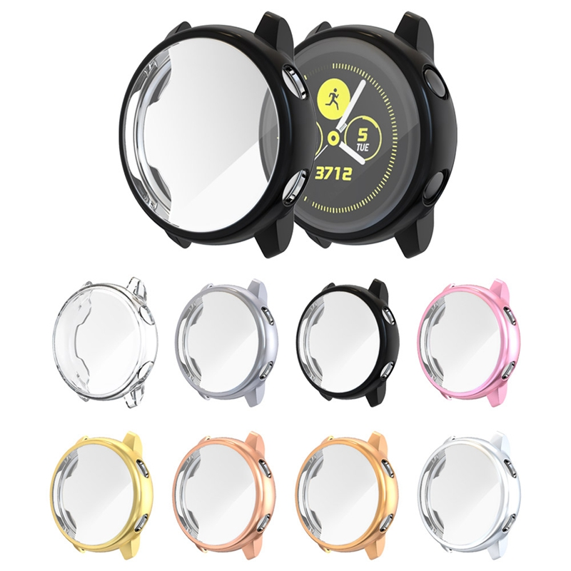 Screen-Protector-Case-For-Samsung-Galaxy-Watch-Active-All-Around-Ultra-Thin-F2E