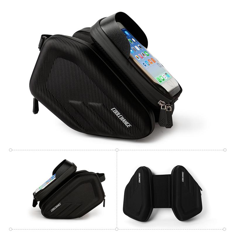 3X(Coolchange Waterproof Bike Bag Frame Front Head Top Tube Cycling Bag Dou G3O2