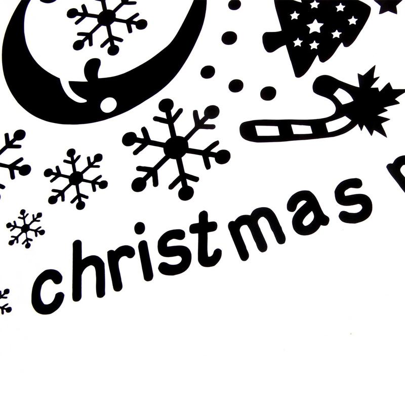 Pegatinas-de-pared-de-Feliz-Navidad-Feliz-Ano-Nuevo-Munecos-de-nieve-Copos-S6A1 miniatura 9