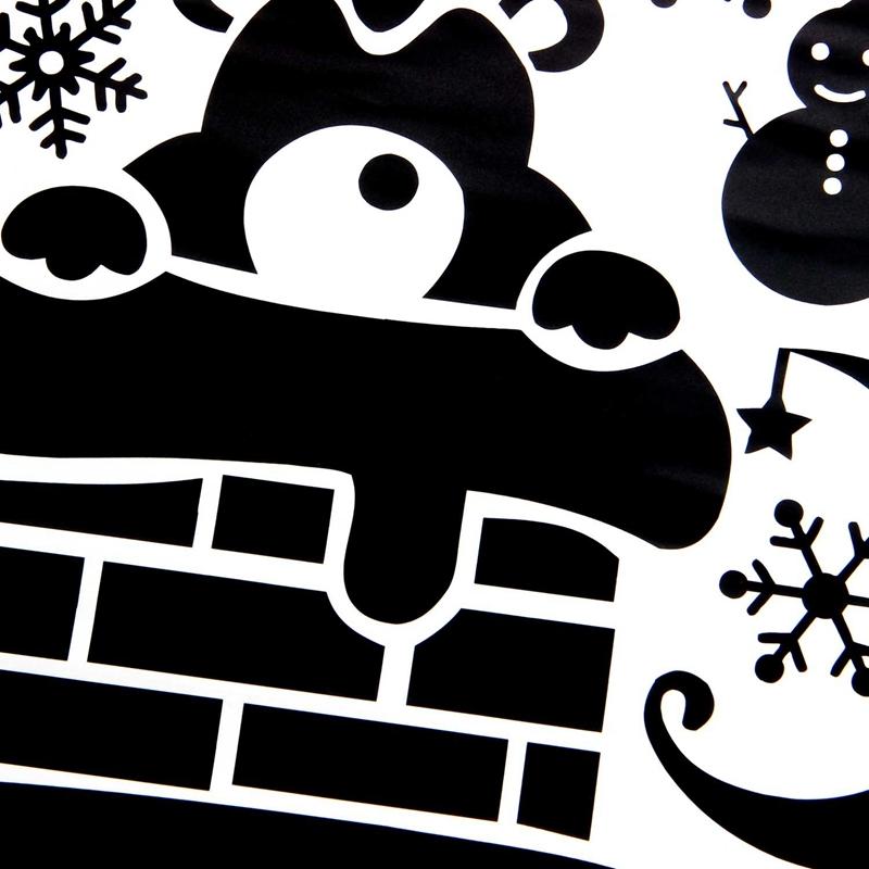 Pegatinas-de-pared-de-Feliz-Navidad-Feliz-Ano-Nuevo-Munecos-de-nieve-Copos-S6A1 miniatura 10
