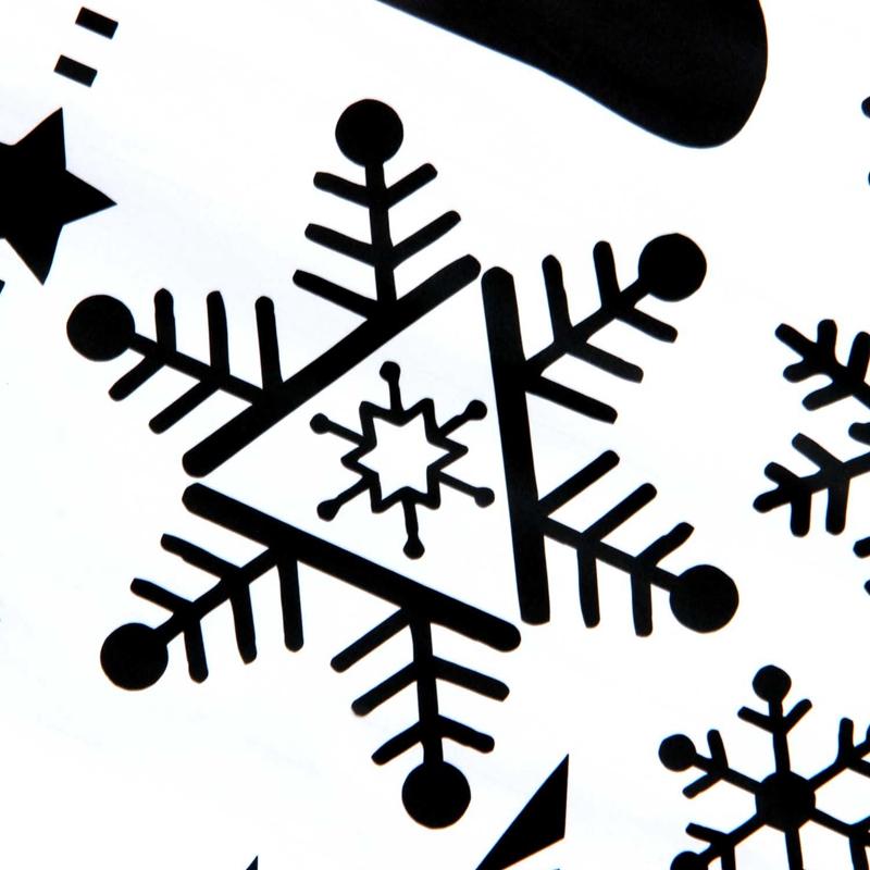 Pegatinas-de-pared-de-Feliz-Navidad-Feliz-Ano-Nuevo-Munecos-de-nieve-Copos-S6A1 miniatura 11