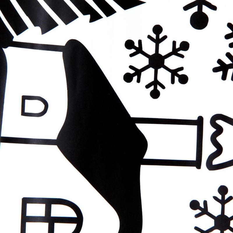 Pegatinas-de-pared-de-Feliz-Navidad-Feliz-Ano-Nuevo-Munecos-de-nieve-Copos-S6A1 miniatura 12