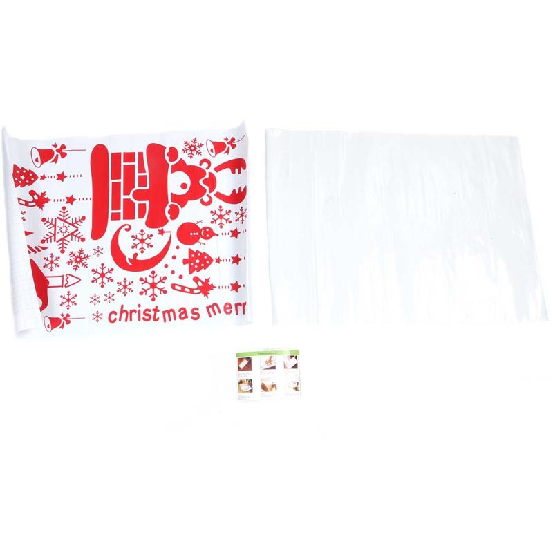 Pegatinas-de-pared-de-Feliz-Navidad-Feliz-Ano-Nuevo-Munecos-de-nieve-Copos-S6A1 miniatura 15