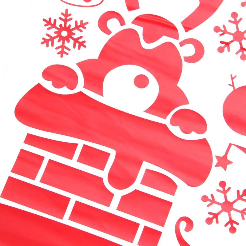 Pegatinas-de-pared-de-Feliz-Navidad-Feliz-Ano-Nuevo-Munecos-de-nieve-Copos-S6A1 miniatura 17