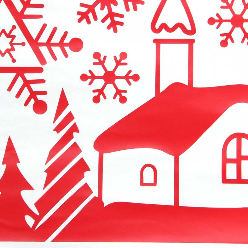 Pegatinas-de-pared-de-Feliz-Navidad-Feliz-Ano-Nuevo-Munecos-de-nieve-Copos-S6A1 miniatura 19