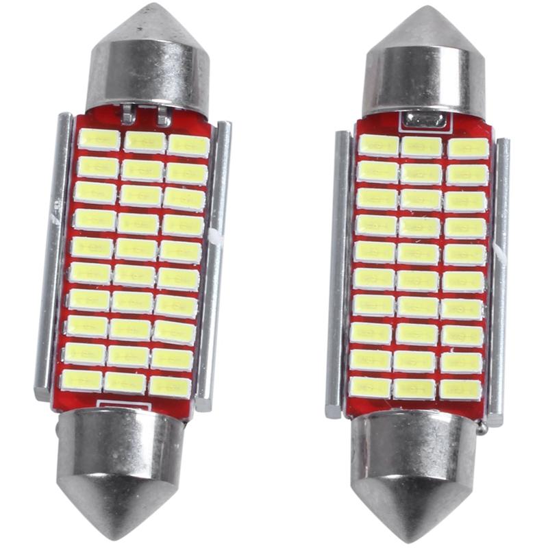 3X-2-Unids-C5W-C10W-3014-18Smd-Adorno-Led-Canbus-Coche-Inteiror-Bombilla-Mat-W6H miniatura 3