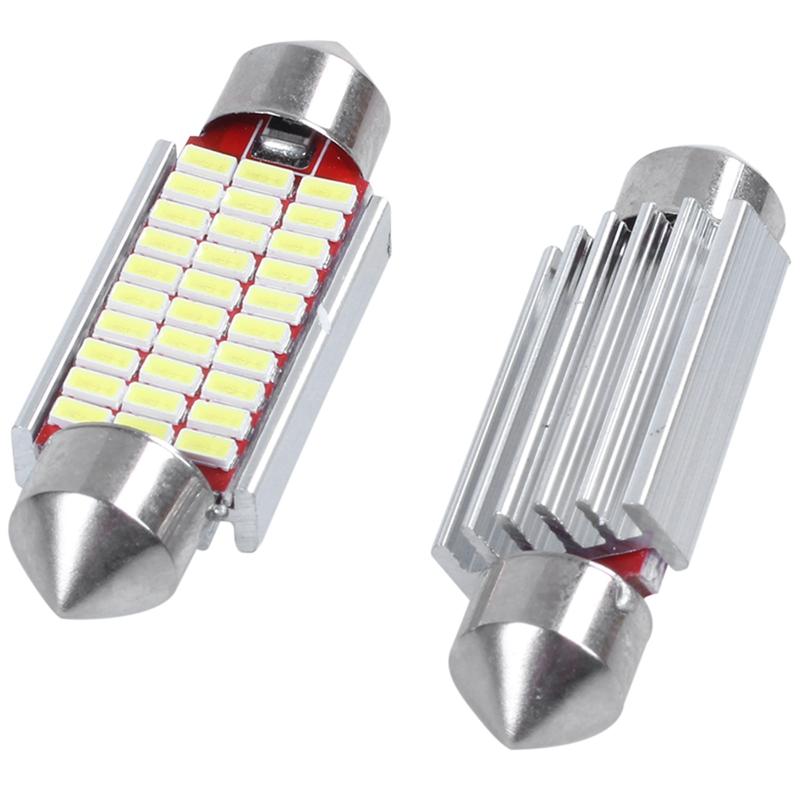 3X-2-Unids-C5W-C10W-3014-18Smd-Adorno-Led-Canbus-Coche-Inteiror-Bombilla-Mat-W6H miniatura 5