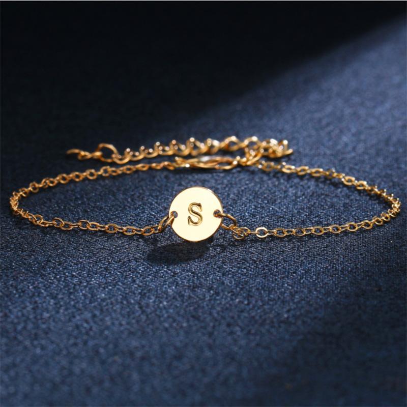5X-New-Fashion-Women-Bracelet-Gold-Color-Alloy-Letter-Charm-Adjustable-Brac-Y8X9 thumbnail 3