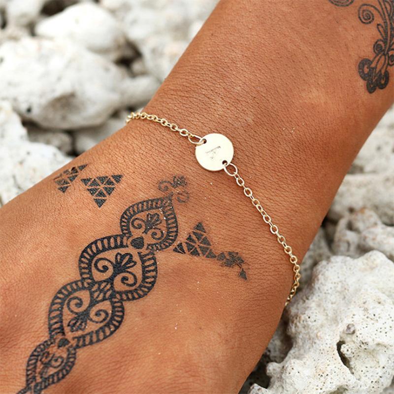5X-New-Fashion-Women-Bracelet-Gold-Color-Alloy-Letter-Charm-Adjustable-Brac-Y8X9 thumbnail 4