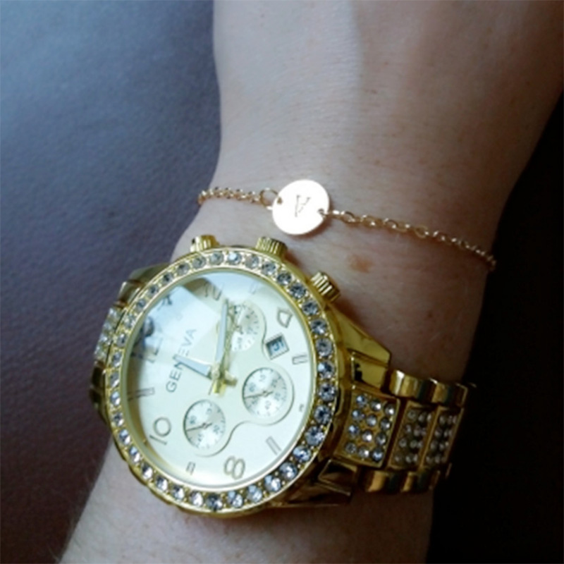 5X-New-Fashion-Women-Bracelet-Gold-Color-Alloy-Letter-Charm-Adjustable-Brac-Y8X9 thumbnail 5