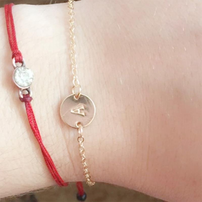 5X-New-Fashion-Women-Bracelet-Gold-Color-Alloy-Letter-Charm-Adjustable-Brac-Y8X9 thumbnail 6