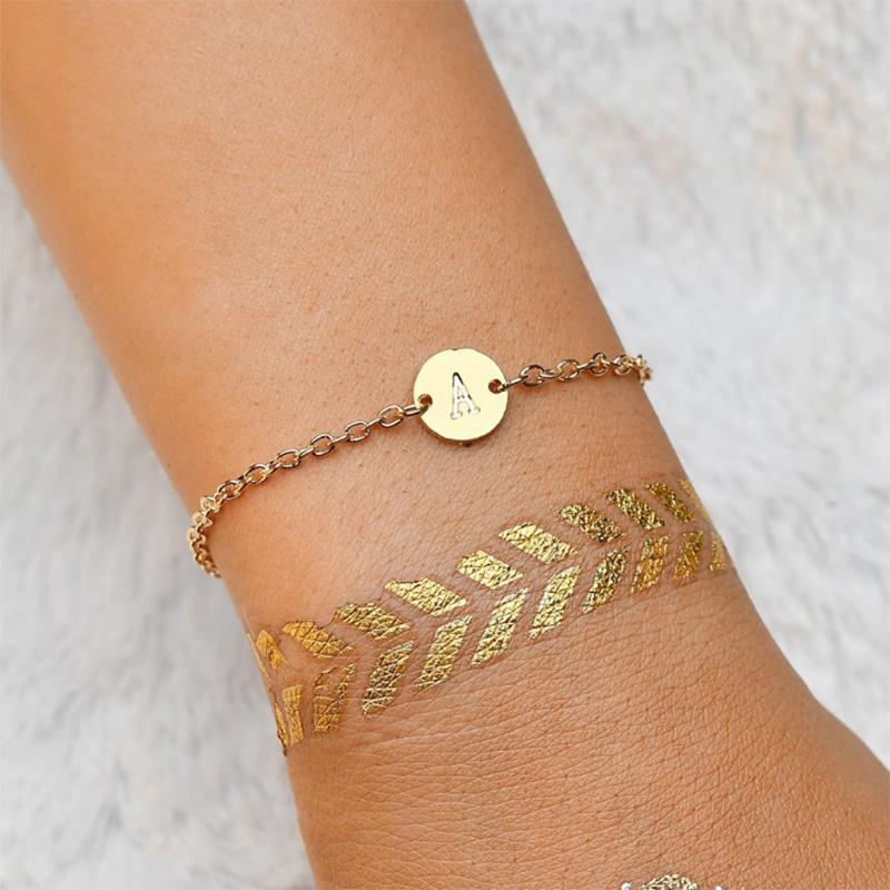 5X-New-Fashion-Women-Bracelet-Gold-Color-Alloy-Letter-Charm-Adjustable-Brac-Y8X9 thumbnail 11