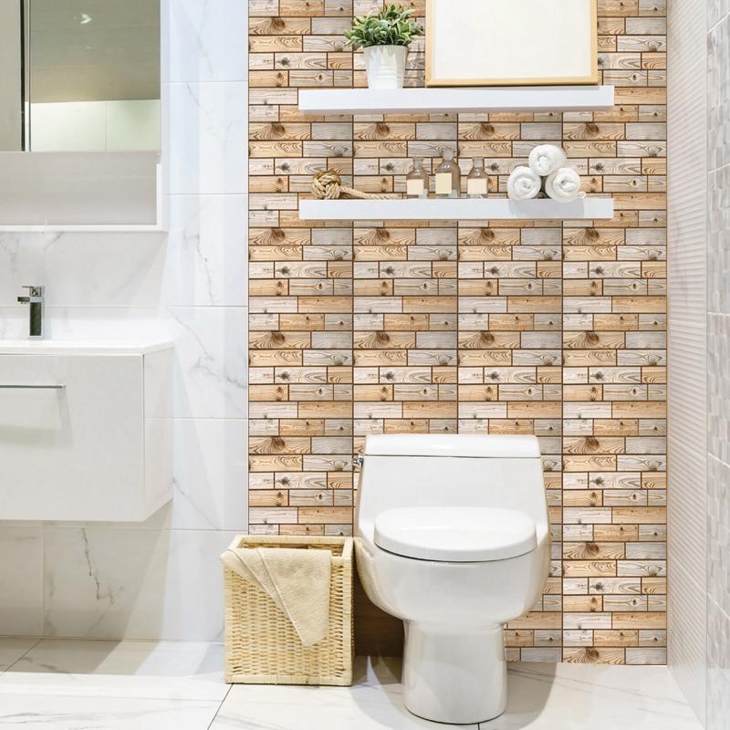 30Cm-X-30Cm-Selbstklebende-Fliesen-Wandkunst-Toilette-Dekor-3D-V4M5 Indexbild 16