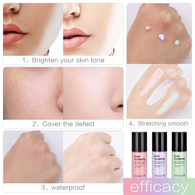 SACE-Dama-base-de-maquillaje-corrector-de-color-de-la-cara-imprimaciones-30Ml-Facial-Corrector-C miniatura 7