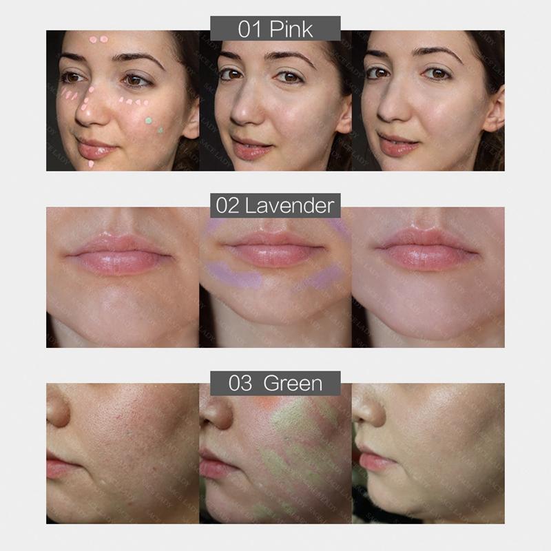 SACE-Dama-base-de-maquillaje-corrector-de-color-de-la-cara-imprimaciones-30Ml-Facial-Corrector-C miniatura 8