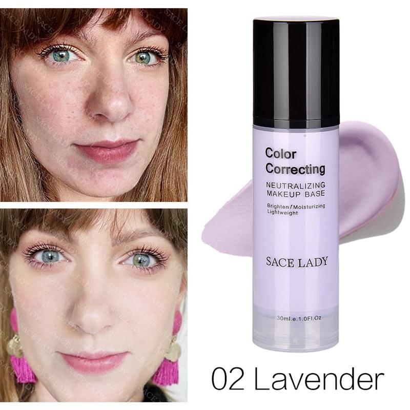 SACE-Dama-base-de-maquillaje-corrector-de-color-de-la-cara-imprimaciones-30Ml-Facial-Corrector-C miniatura 14