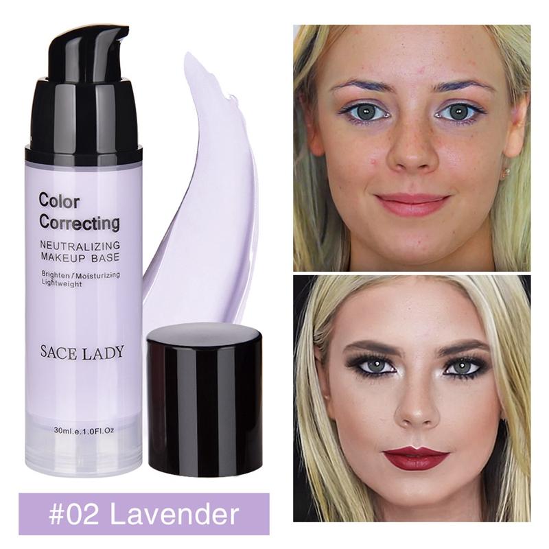 SACE-Dama-base-de-maquillaje-corrector-de-color-de-la-cara-imprimaciones-30Ml-Facial-Corrector-C miniatura 15