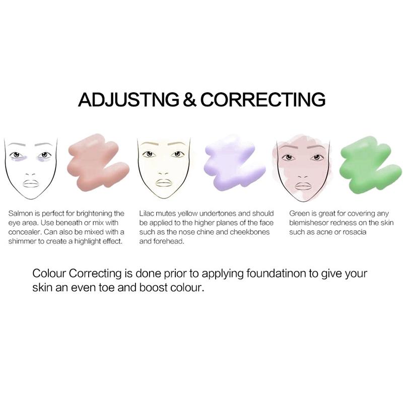 SACE-Dama-base-de-maquillaje-corrector-de-color-de-la-cara-imprimaciones-30Ml-Facial-Corrector-C miniatura 16