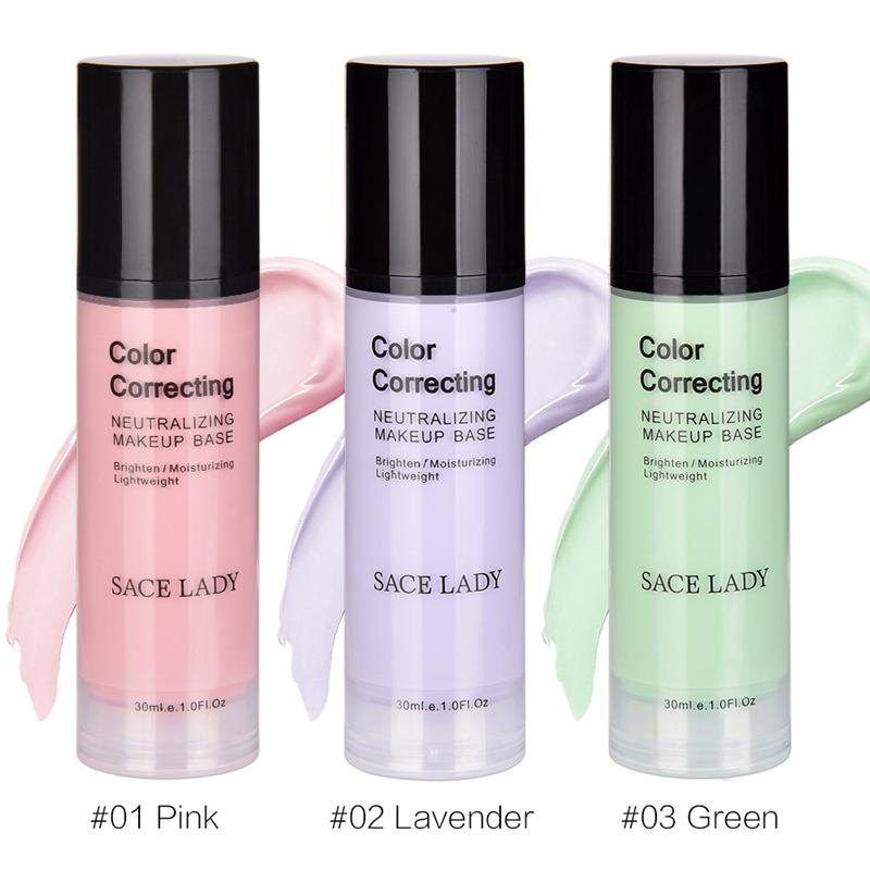 SACE-Dama-base-de-maquillaje-corrector-de-color-de-la-cara-imprimaciones-30Ml-Facial-Corrector-C miniatura 21