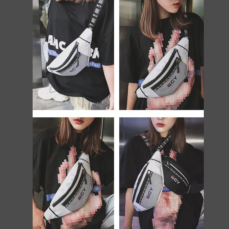 Mode-Neutral-Aussen-Zipper-Segeltuch-Umhaenge-Tasche-Sport-Brust-Tasche-Guerte-Q1I9 Indexbild 15