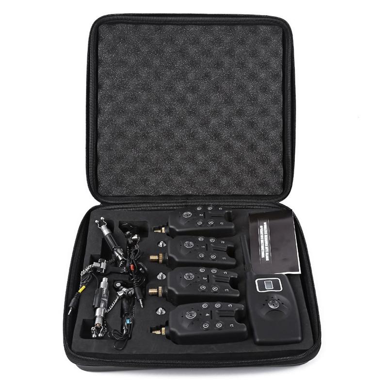 Wireless Digitale Pesca Bite Alarm tuttiarme Pesca 4 con schermo LCD SLA C4Q4