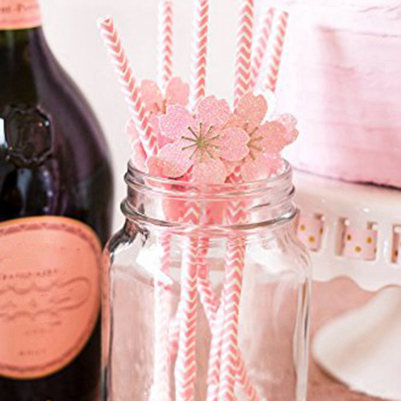 Biodegradable-Paper-Straws-100-Pink-For-Party-Supplies-Birthday-Wedding-T5X4 thumbnail 5