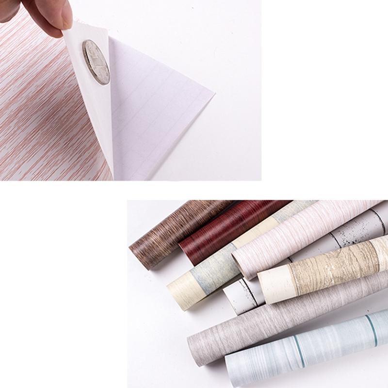Wood-Grain-Home-Decor-Furniture-Wrap-Waterproof-Wall-Sticker-Self-Adhesive-W2M5 thumbnail 4
