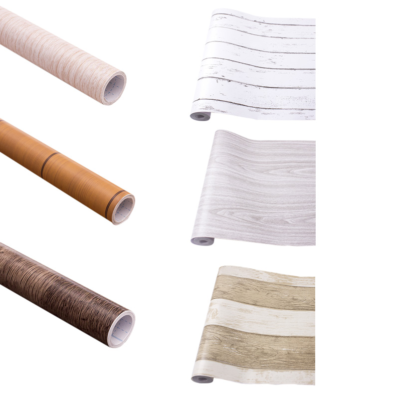 Wood-Grain-Home-Decor-Furniture-Wrap-Waterproof-Wall-Sticker-Self-Adhesive-W2M5 thumbnail 50