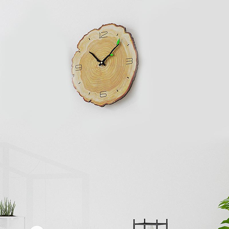 Horloge-Murale-Grain-de-Bois-Horloge-Muette-Du-Salon-Tableaux-Muraux-en-Bois-j1y miniature 3