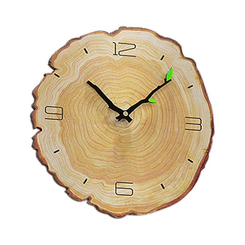Horloge-Murale-Grain-de-Bois-Horloge-Muette-Du-Salon-Tableaux-Muraux-en-Bois-j1y