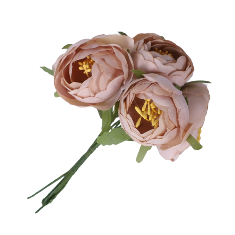 6pcs-Lot-Simulation-Seidentuch-Bouquet-Braut-Haelt-Blumen-Dekorative-Blumen-X7D6 Indexbild 3