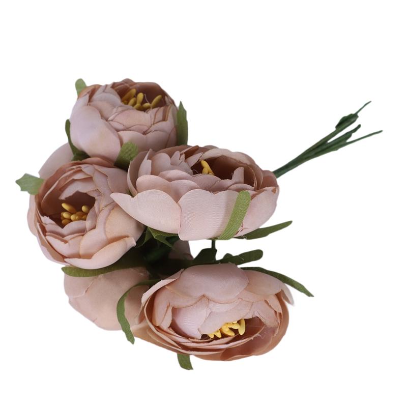 6pcs-Lot-Simulation-Seidentuch-Bouquet-Braut-Haelt-Blumen-Dekorative-Blumen-X7D6 Indexbild 5