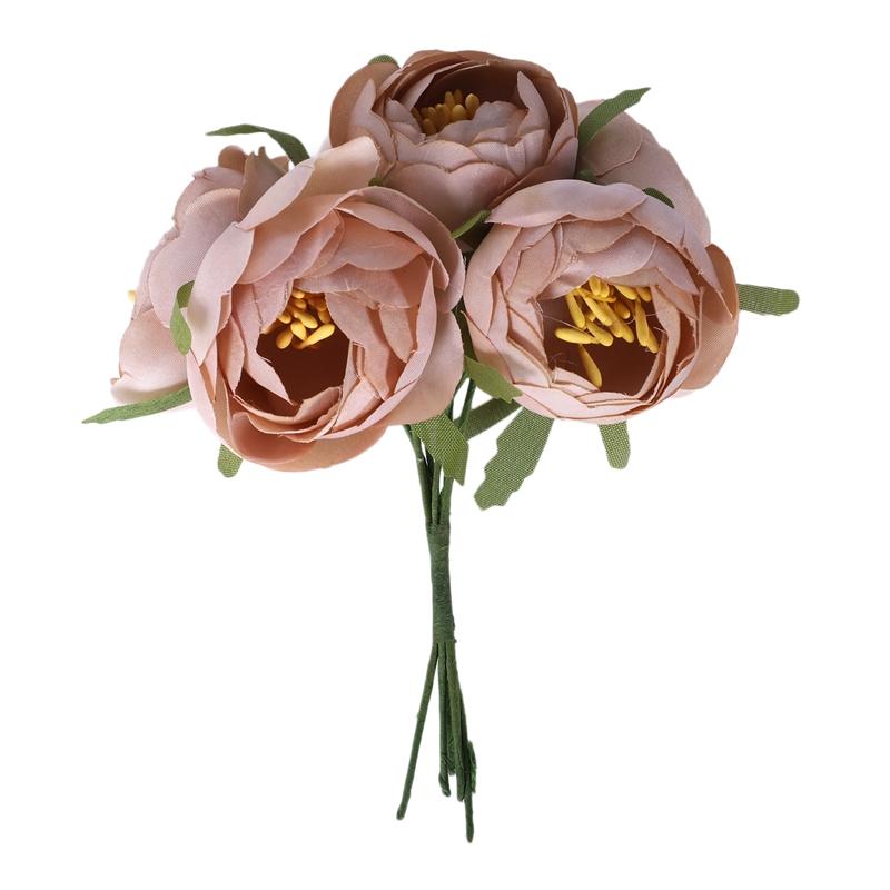 6pcs-Lot-Simulation-Seidentuch-Bouquet-Braut-Haelt-Blumen-Dekorative-Blumen-X7D6 Indexbild 2
