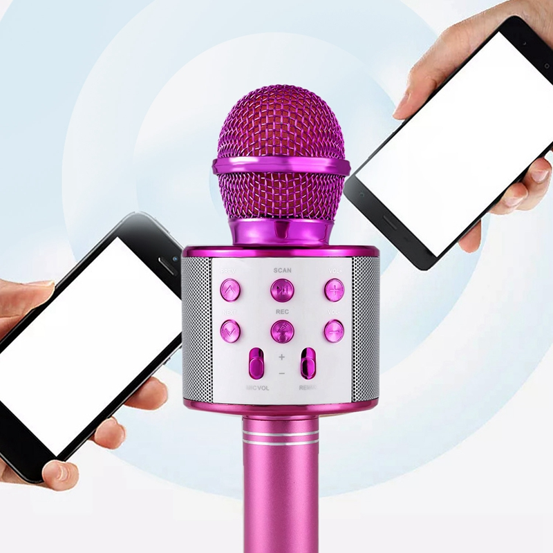 Microfono-de-karaoke-inalambrico-Mini-KTV-en-casa-Bluetooth-portatil-para-t-U2N8 miniatura 3